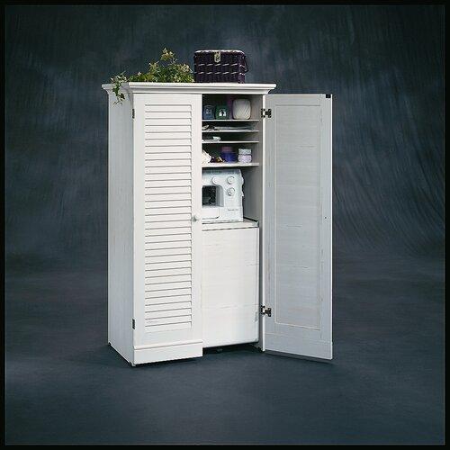 """Sauder Harbor View 35.5"""" Craft Armoire Storage Cabinet"""
