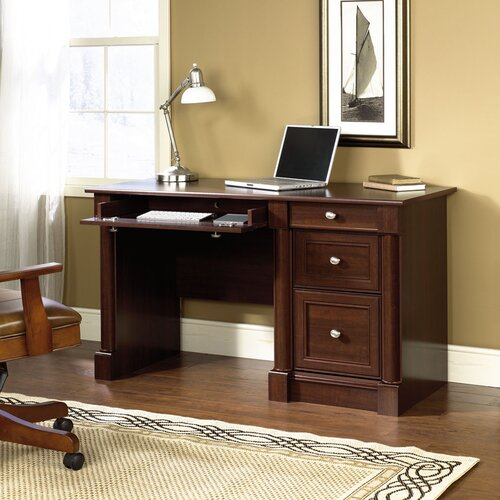 Sauder Palladia Computer Desk with Keyboard Tray