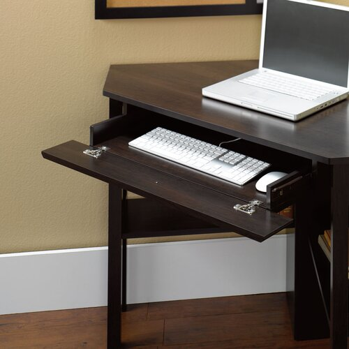 Sauder Beginnings Corner Computer Desk with Keyboard Tray