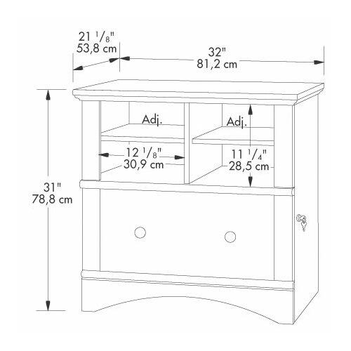 Sauder Harbor View 1-Drawer  File Cabinet I