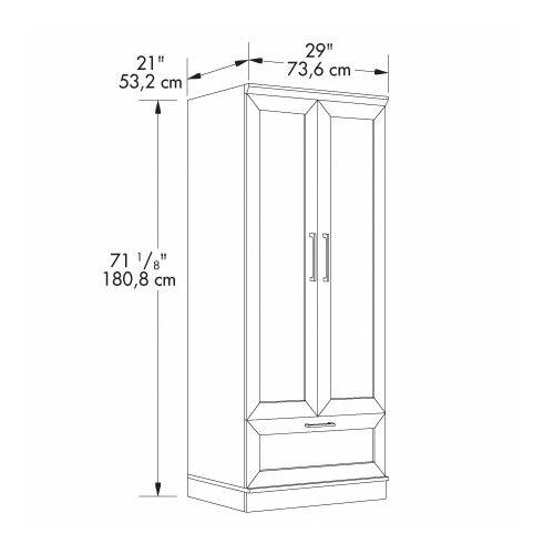 """Sauder HomePlus 29"""" Wardrobe Cabinet"""