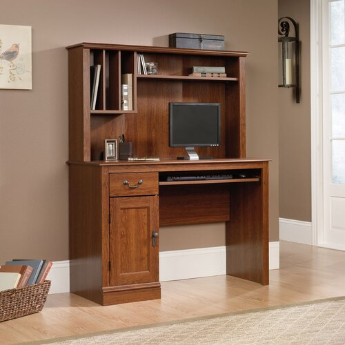 "Sauder Camden County 43.5"" W Computer Desk with Hutch"