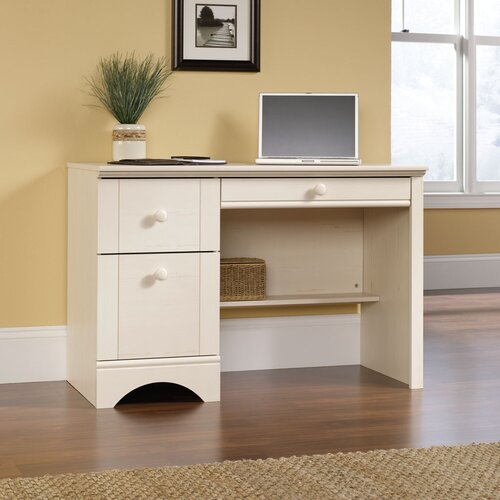 Harbor View Computer Desk in Antique White
