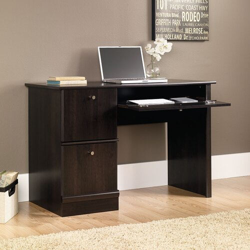 """Sauder 46.5"""" W Computer Desk with Keyboard / Mouse Tray"""