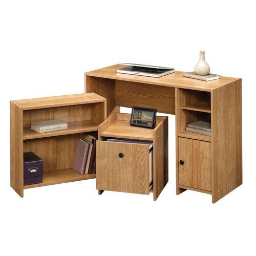 Sauder 3 Piece Beginnings Standard Desk Office Suite