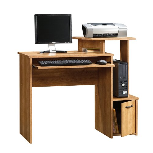 Beginnings Office Computer Desk with Elevated Shelf