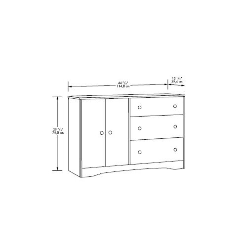 Sauder Beginnings 3 Drawer Combo Dresser