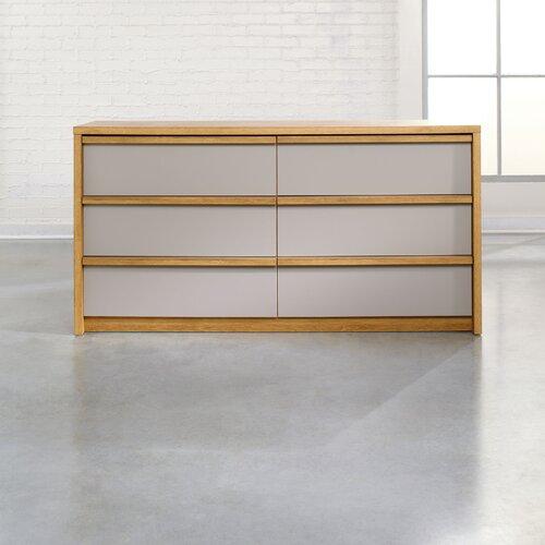 Sauder Soft Modern 6 Drawer Dresser