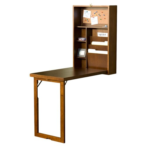 Wildon Home ® Frank Fold-Out Convertible Writing Desk with Shelves