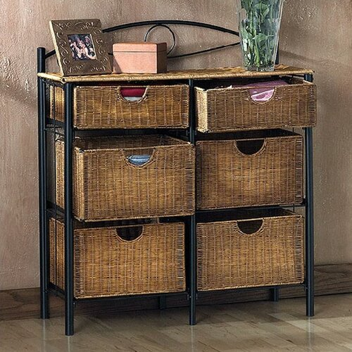 Wildon Home ® Royston 6 Drawer Wicker Storage Chest