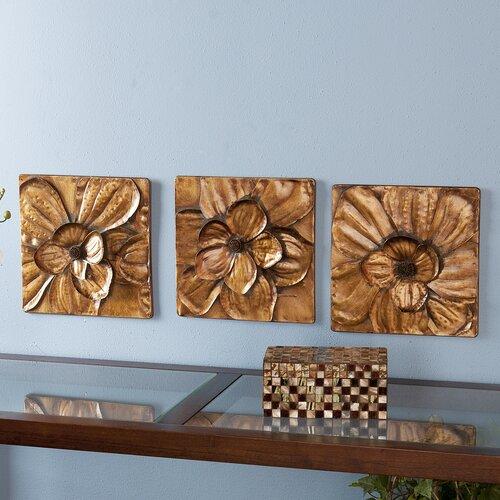 Wildon Home ® 3 Piece Burton Magnolia Panel Wall Décor Set