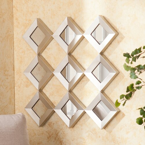 wildon home 174 hutton decorative wall mirror amp reviews