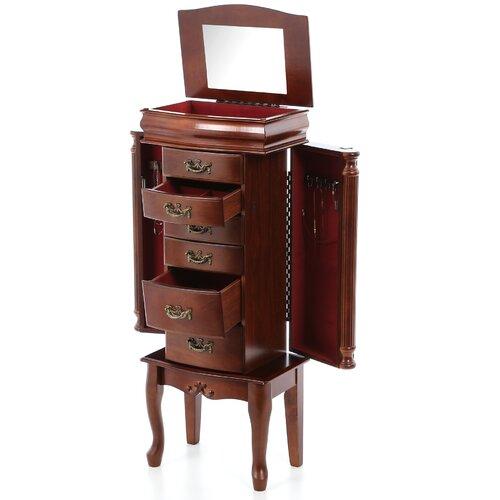 Wildon Home ® Richmond Jewelry Armoire with Mirror