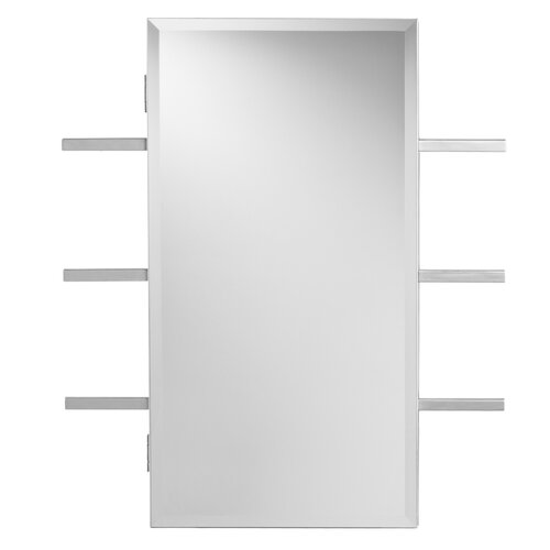 Wildon Home ® Douglas Wall Mounted Jewelry Armoire with Mirror