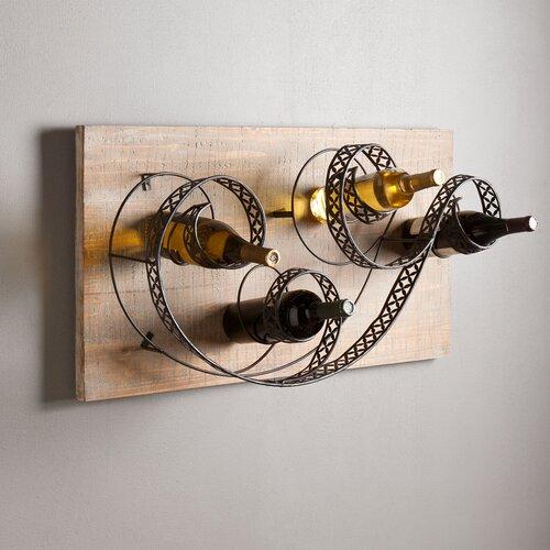Wildon Home ® Estancia 4 Bottle Wall Mount Wine Rack