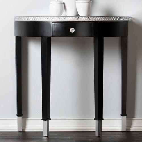 Carmichael Console Table - Mirrored Demilune