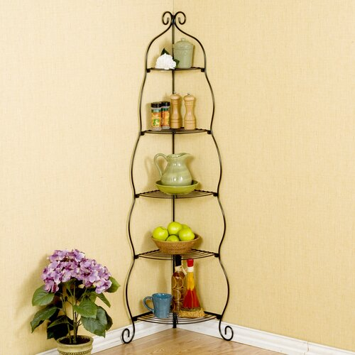 Wildon Home ® Colchester Scrolled Corner Etagere