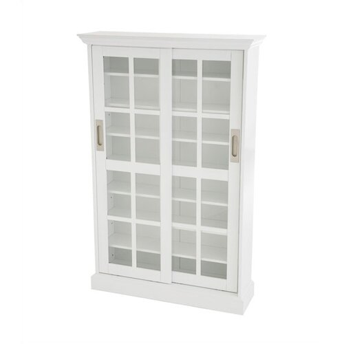 Wildon Home ® Open Box Price Woods Windowpane Multimedia Cabinet in White