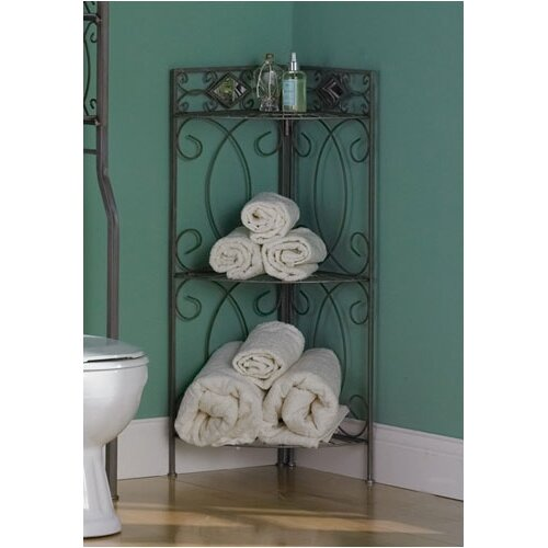 "Wildon Home ® Lyon 36.75"" x 18.75"" Corner Linen Tower"