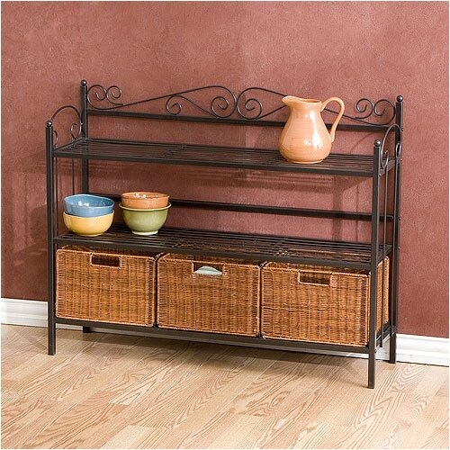 Wildon Home ® Scout Scrolled 3 Drawer Storage Shelf