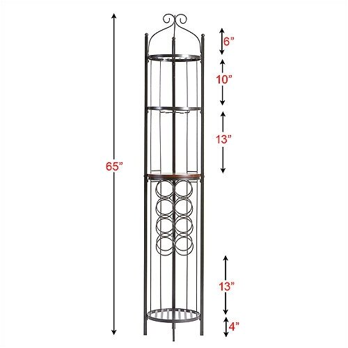 Wildon Home ® Scout Scrolled 8 Bottle Wine Rack