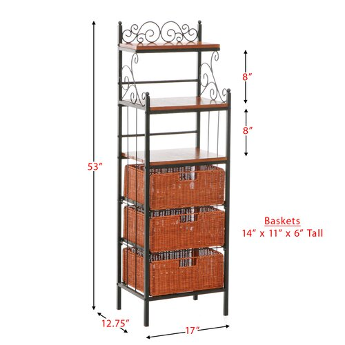 Wildon Home ® Walker Scrolled Storage Baker's Rack