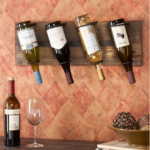 Wildon Home ® Wicklow 4 Bottle Wall Mount Wine Rack