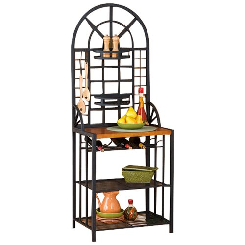 Wildon Home ® Heights Bakers Rack in Black