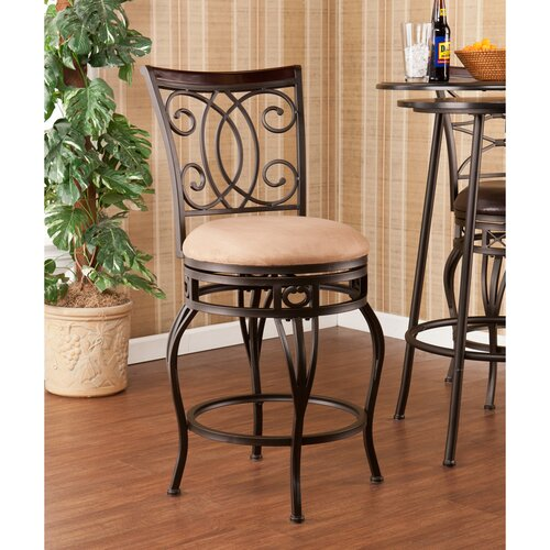 "Wildon Home ® Rodney 25.25"" Swivel Bar Stool with Cushion"