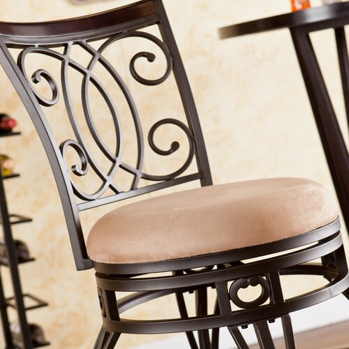 "Wildon Home ® Rodney 29.75"" Swivel Bar Stool with Cushion"
