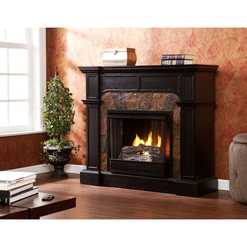 Wildon Home ® Middleton Convertible Slate Gel Fuel Fireplace
