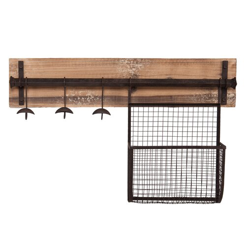 Wildon Home ® Hampton Entryway Wall Coat Rack with Storage