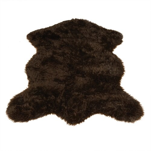 Walk On Me Animal Pelt Brown Area Rug