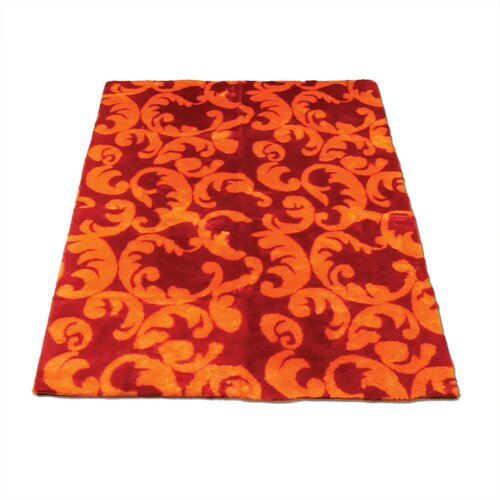 Walk On Me Modern Print Red/Orange Rug