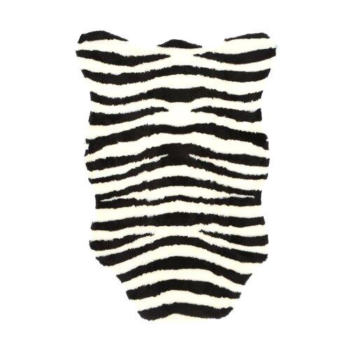 American Home Rug Co. African Safari Pink/Black Zebra