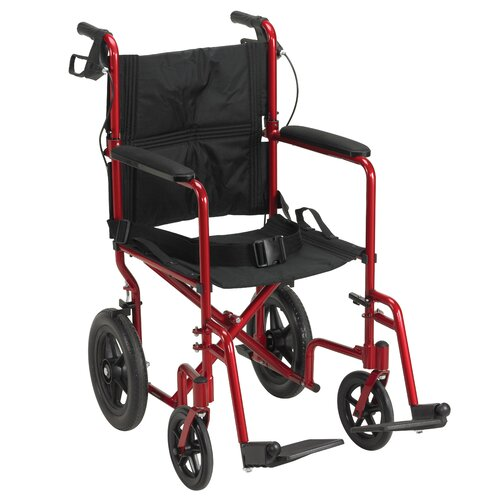"Drive Medical 19"" Ultra Lightweight Expedition Transport Bariatric Wheelchair"