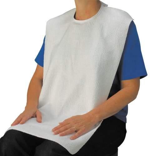 Drive Medical Lifestyle Terry Towel Bib Adaptive Clothing With Tie Closure
