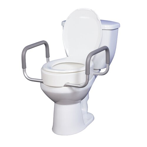 Drive Medical Premium Seat Riser with Removable Arms for Toilets