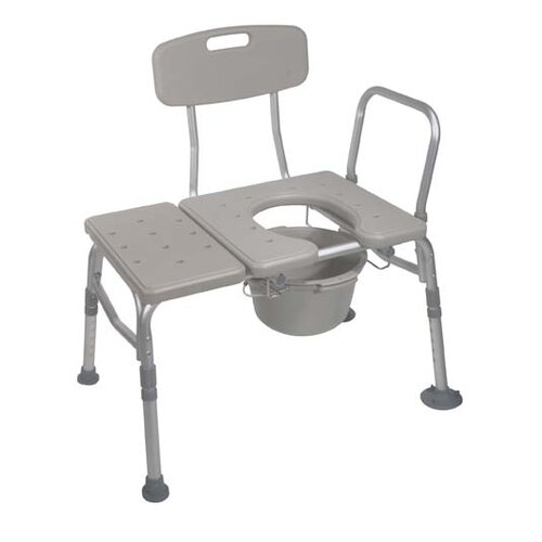 Drive Medical Knock Down Combination Plastic Transfer Bench/Commode