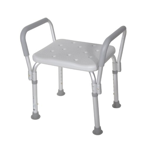 Drive Medical Bath Bench with Removable Padded Arms