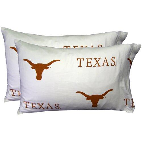 NCAA Texas Pillowcase (Set of 2)
