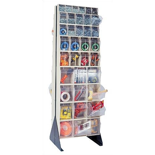 "Quantum Storage 75"" Double Sided Floor Stand Storage Unit with Tip Out Bins"