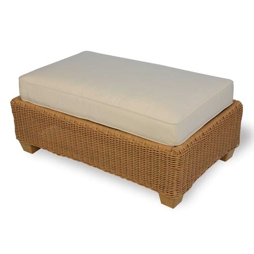 Lloyd Flanders Napa Large Ottoman with Cushion