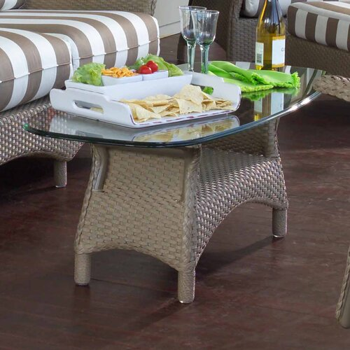 Lloyd Flanders Mandalay Glass Top Coffee Table