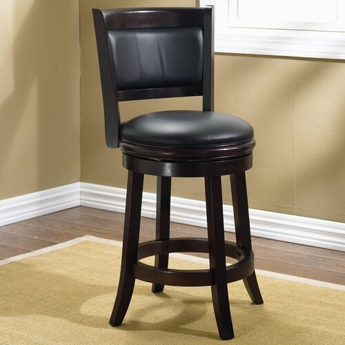 "Boraam Industries Inc Augusta 24"" Swivel Bar Stool with Cushion"