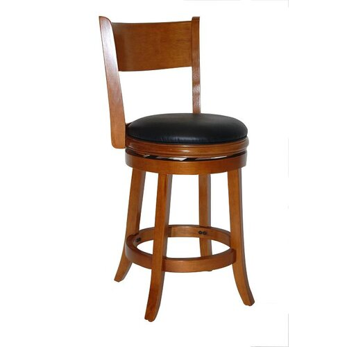 "Boraam Industries Inc Palmetto 24"" Swivel Bar Stool with Cushion"