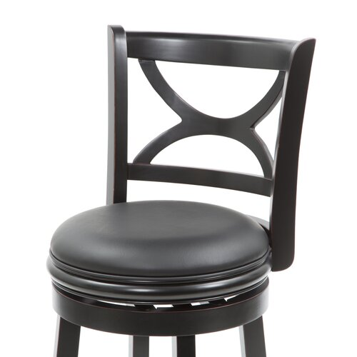 "Boraam Industries Inc Florence 24"" Swivel Bar Stool with Cushion"
