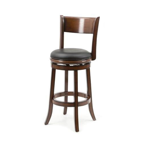 "Boraam Industries Inc Palmetto 29"" Swivel Bar Stool with Cushion"