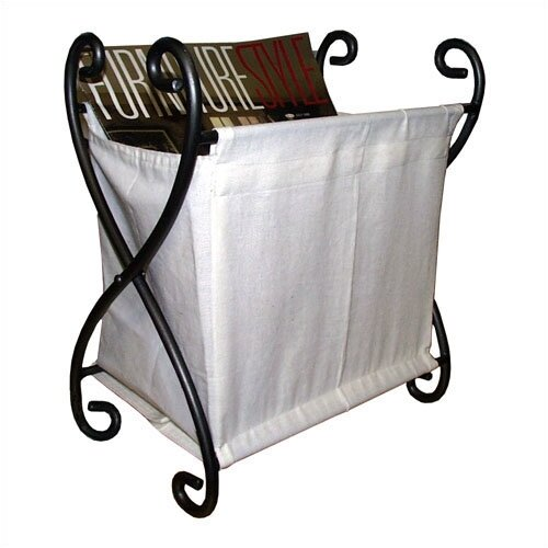 Iron and Canvas Magazine Rack