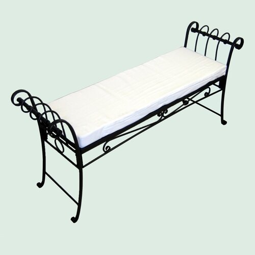 Pangaea Home and Garden Scroll Iron Garden Bench